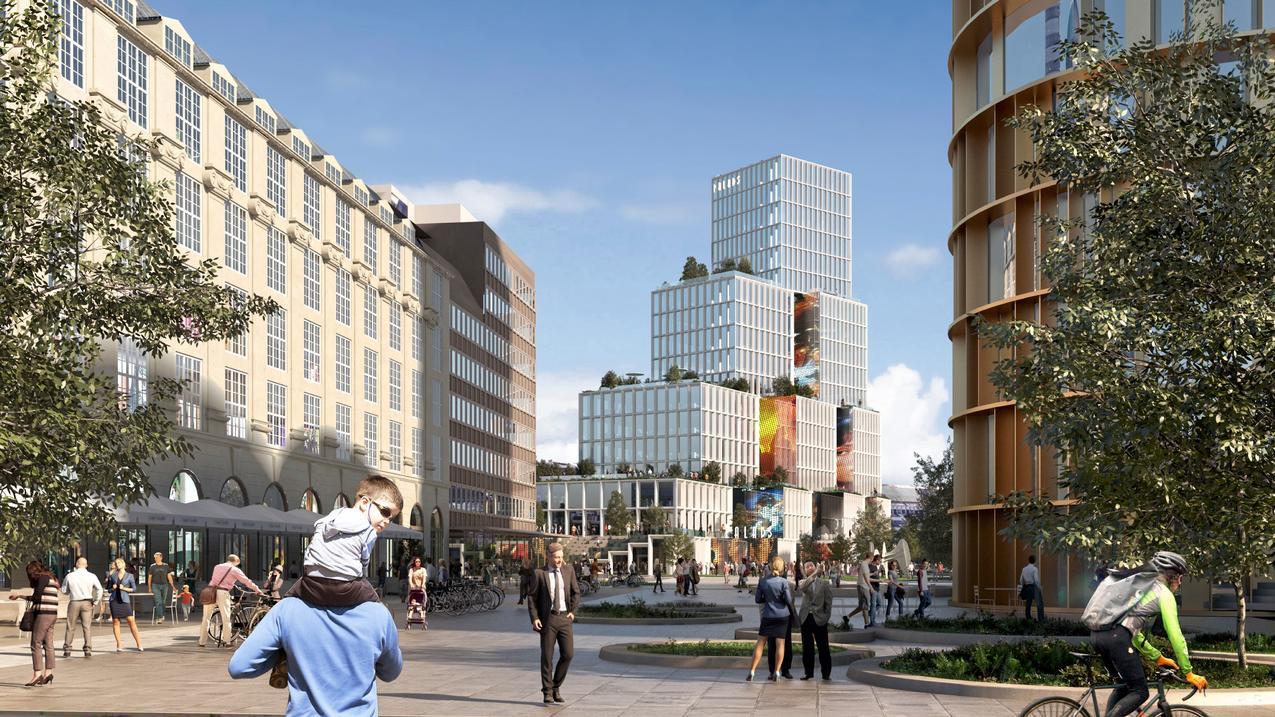 Nyt Palads visualisering Axel Towers