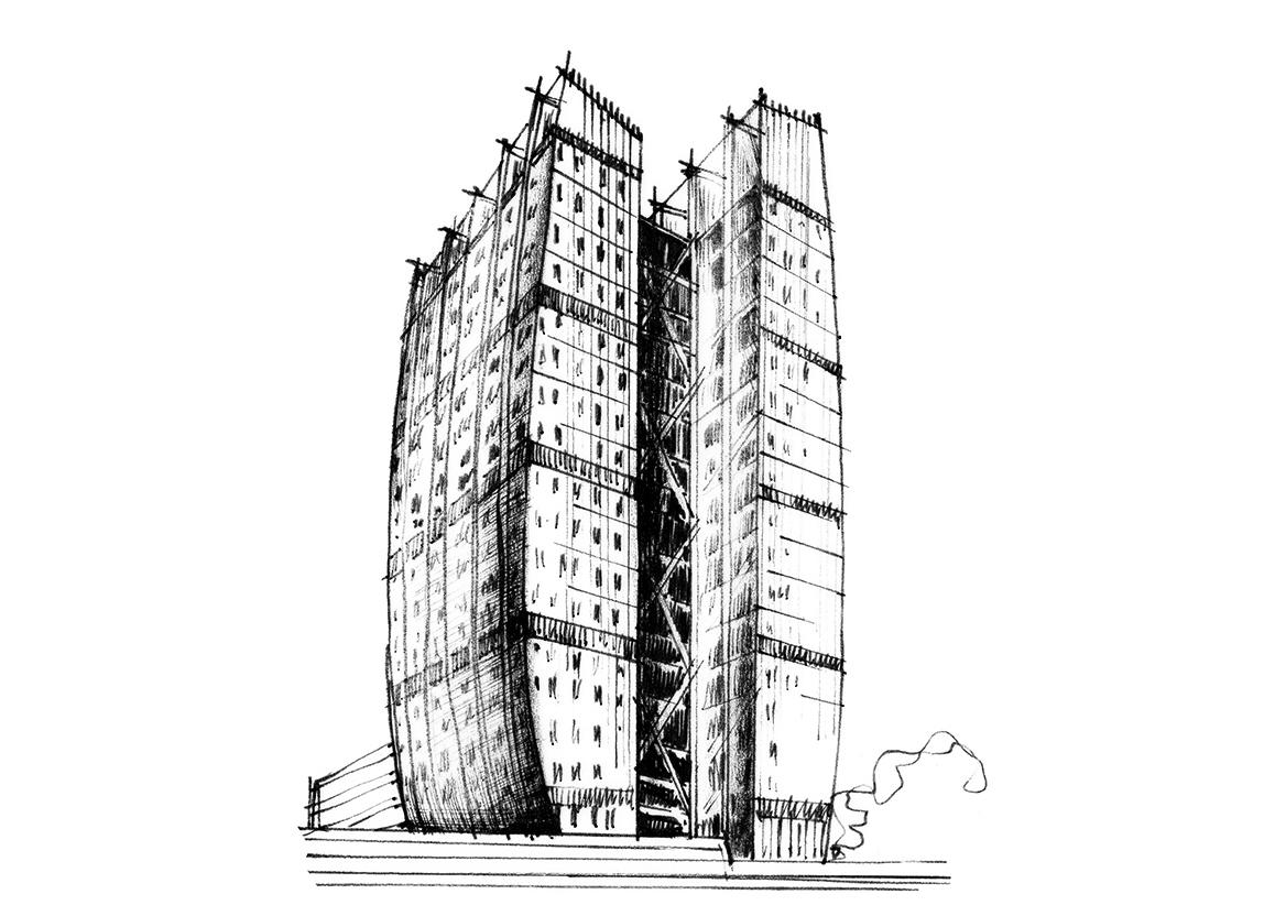 grafik north tower partiv
