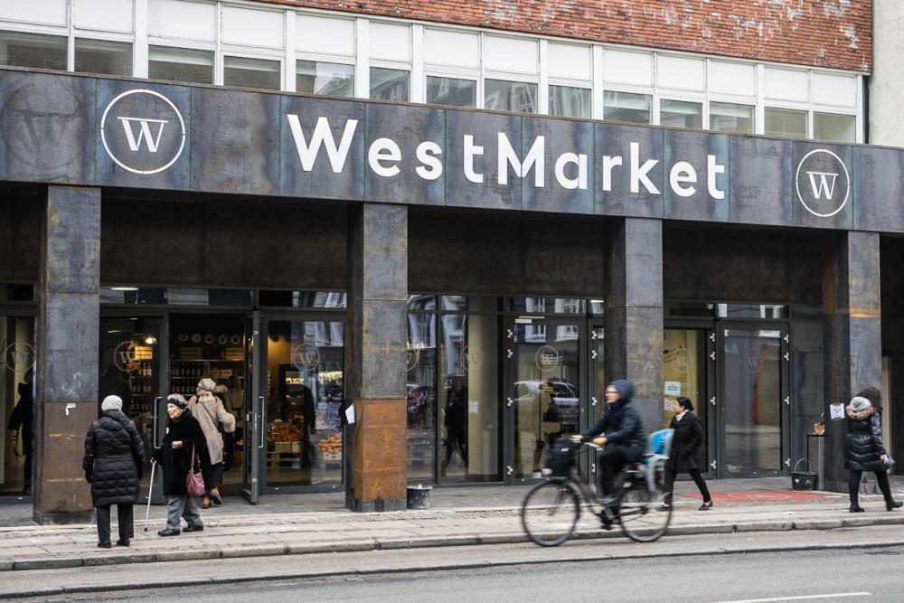 westmarket kolonnade indgang
