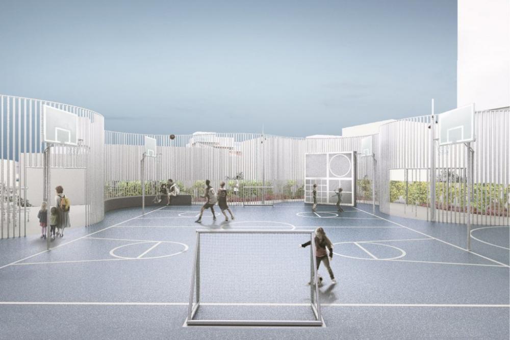 sportsbaner på taget bellakvarter
