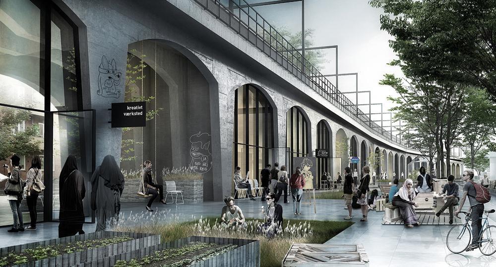 Nørrebro Station vision under højbanen