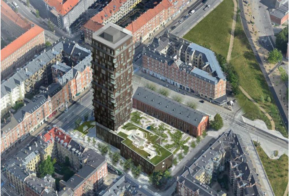 nuuks plads boligtårn luftperspektiv
