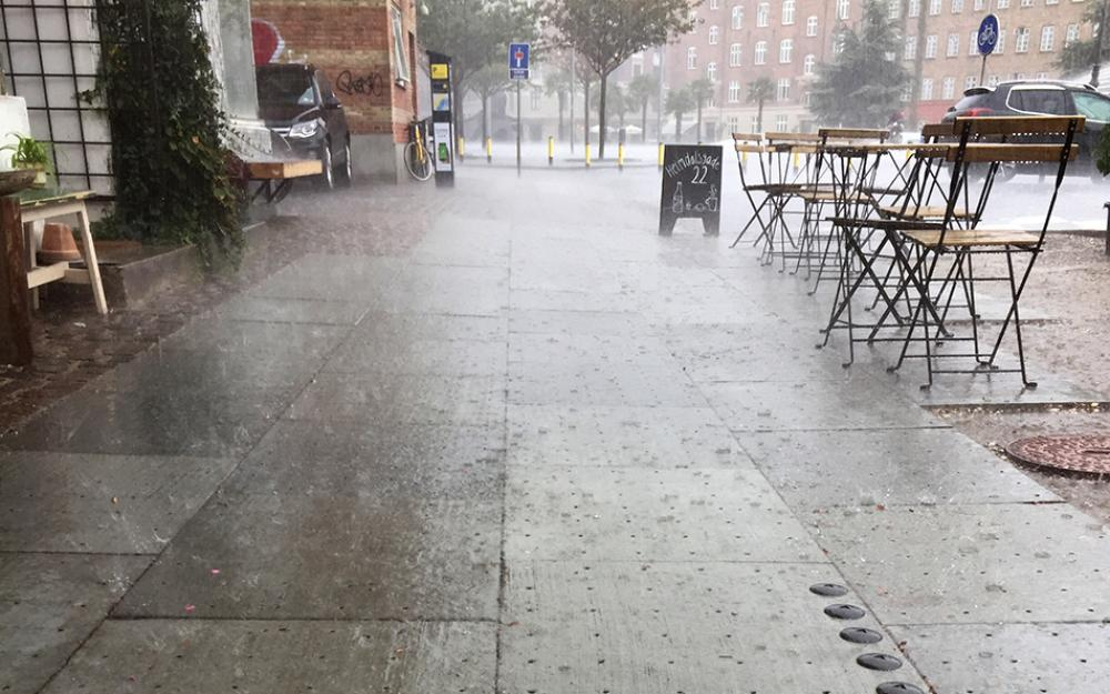klimaflisen i regnvejr