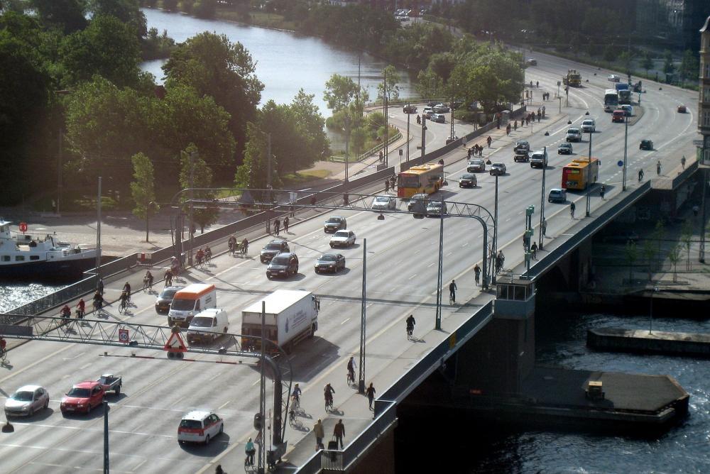 Langebro trafik