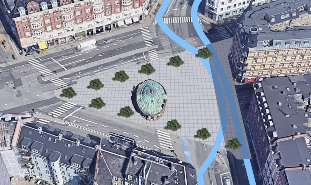 Ombygning af Trianglen med mere byrum