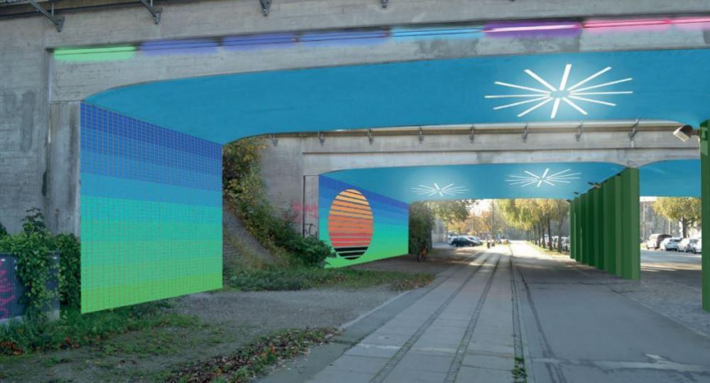 ny planlagt kunst ved Sjælør Station