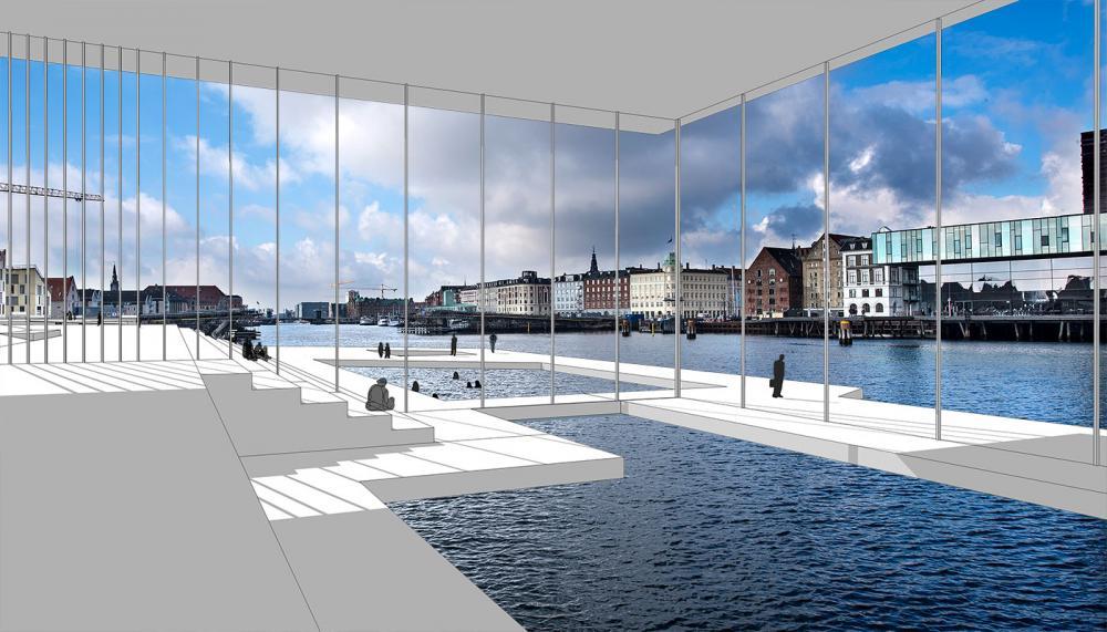 Papirøbadet kig ind mod inderhavnen københavn