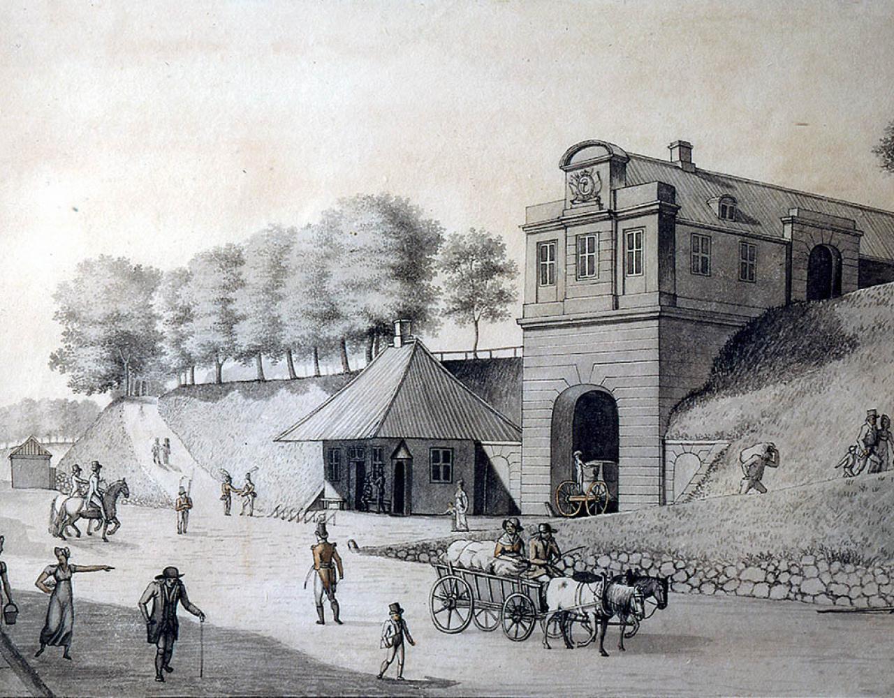 Nørreport 1809 Eckersberg