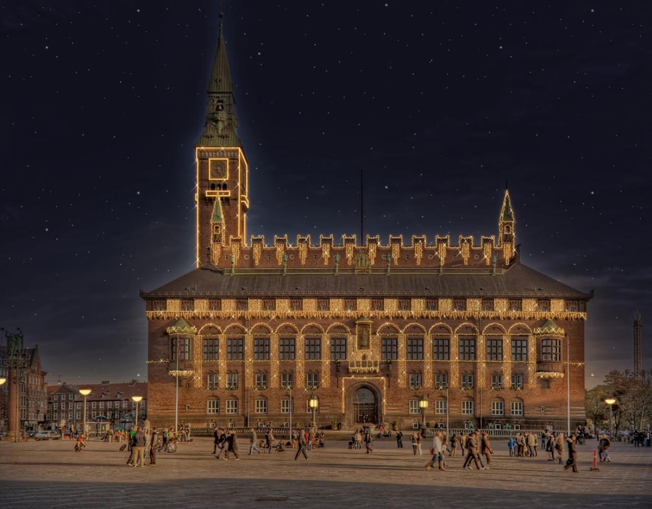 københavns rådhus vinterlys