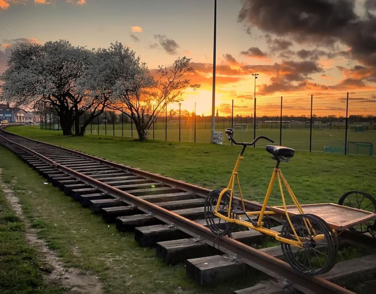 Amagerbanen solnedgang kløvermaken
