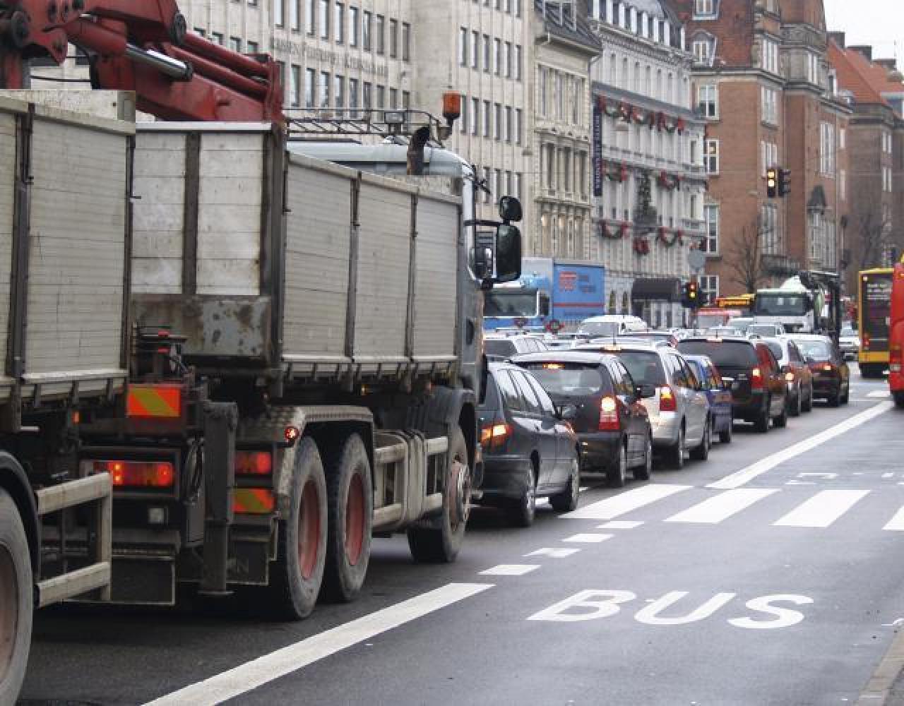 biltrafik H C Andesens Boulevard