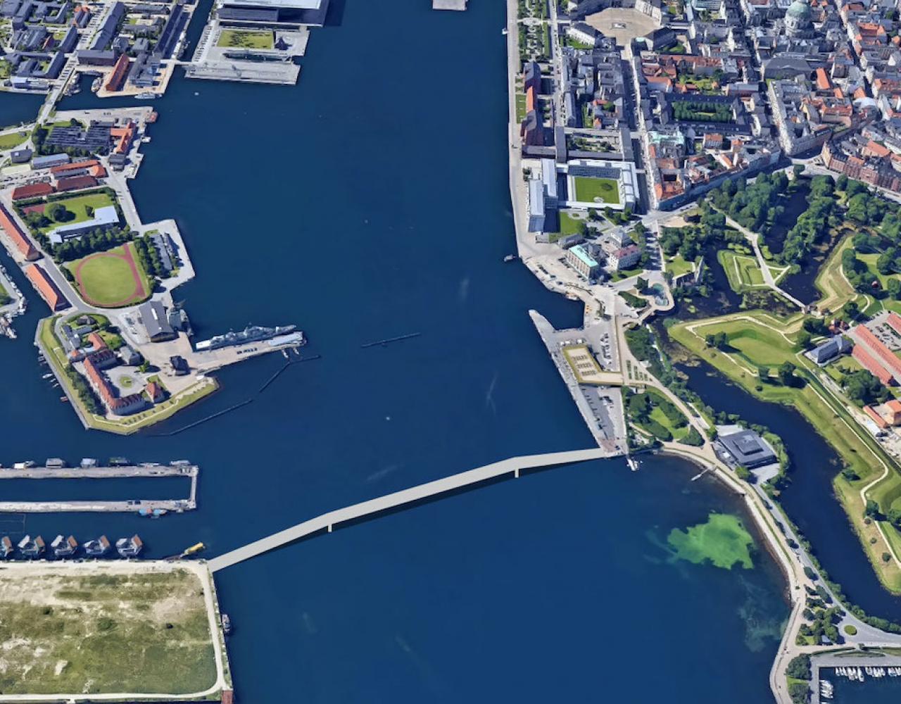 Mulig bro mellem Nordre Toldbod og Refashaleøen