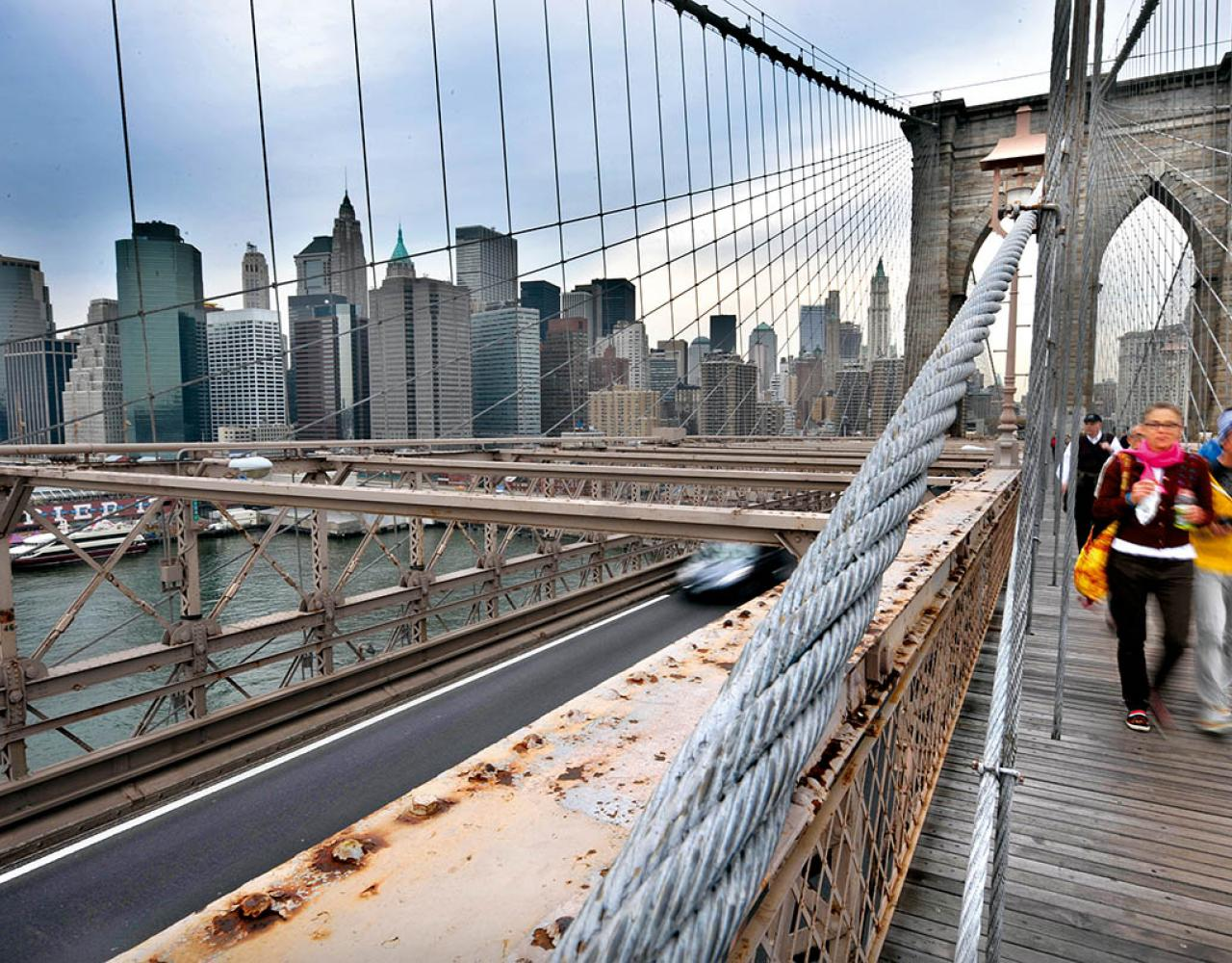 Brooklyn Bridge Manhattan Skyline
