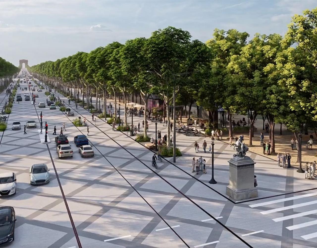 Champs Elysee grøn omlægning 2030