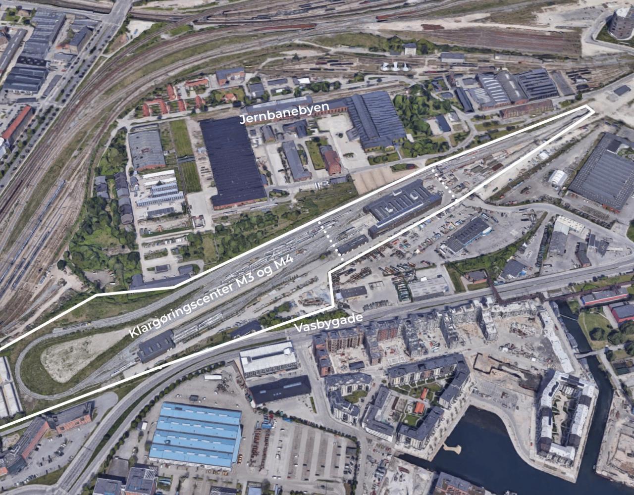 Kort metro klargøringscenter jernbanebyen