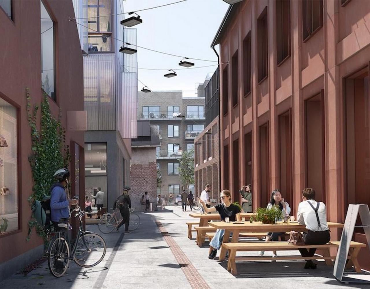 Den Røde By i Nordhavn