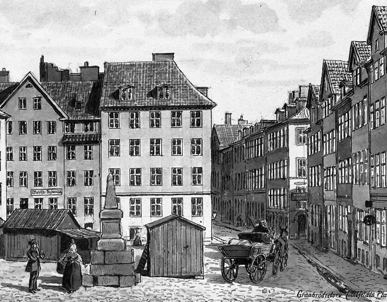 Gråbrødre Torv 1840
