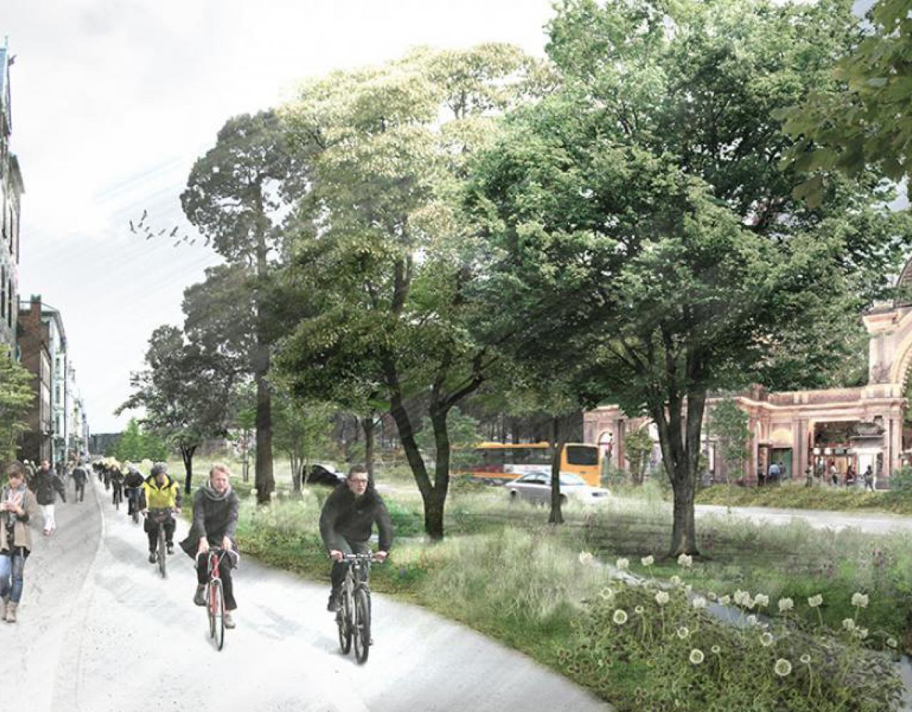 H.C. Andersens Boulevard som Den Grønne Boulevard