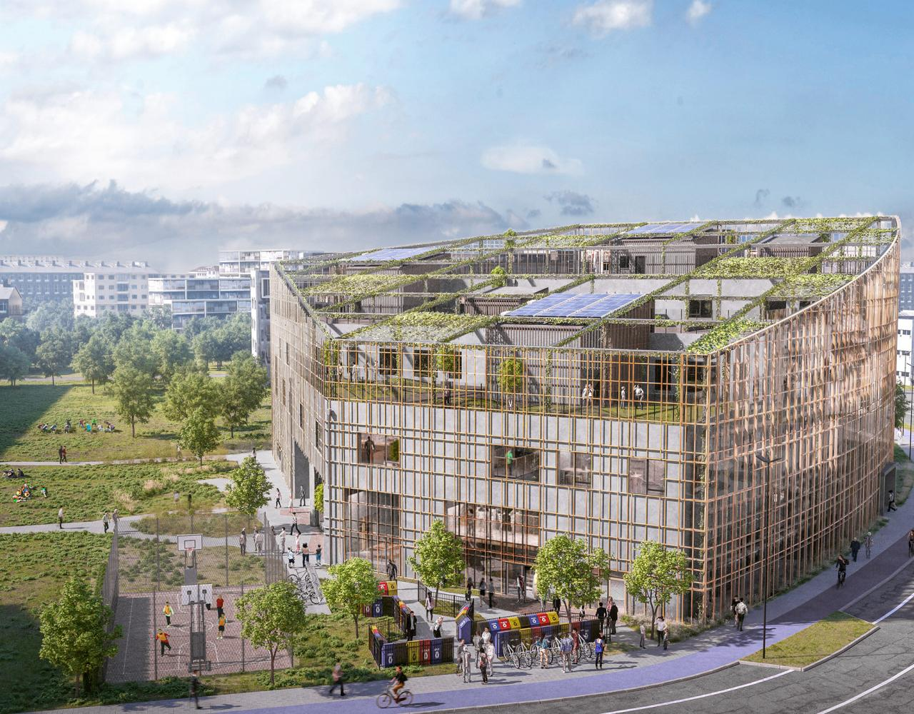 Sydhavnens Skole tilbygning overblik
