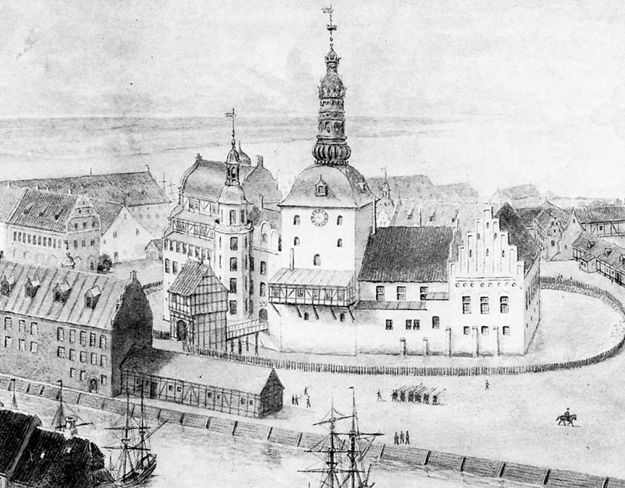 Københavns Slot 1680 landscape