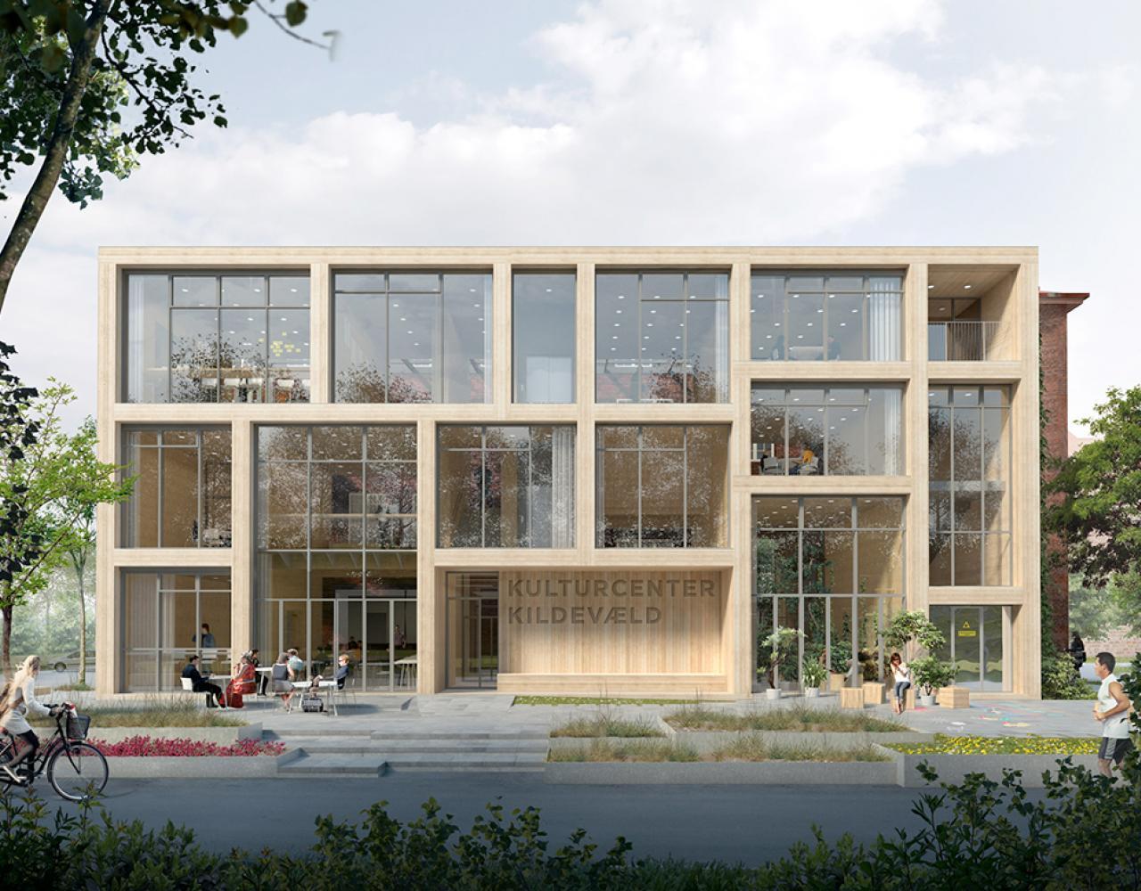 kulturcenter kildevæld kant arkitekter