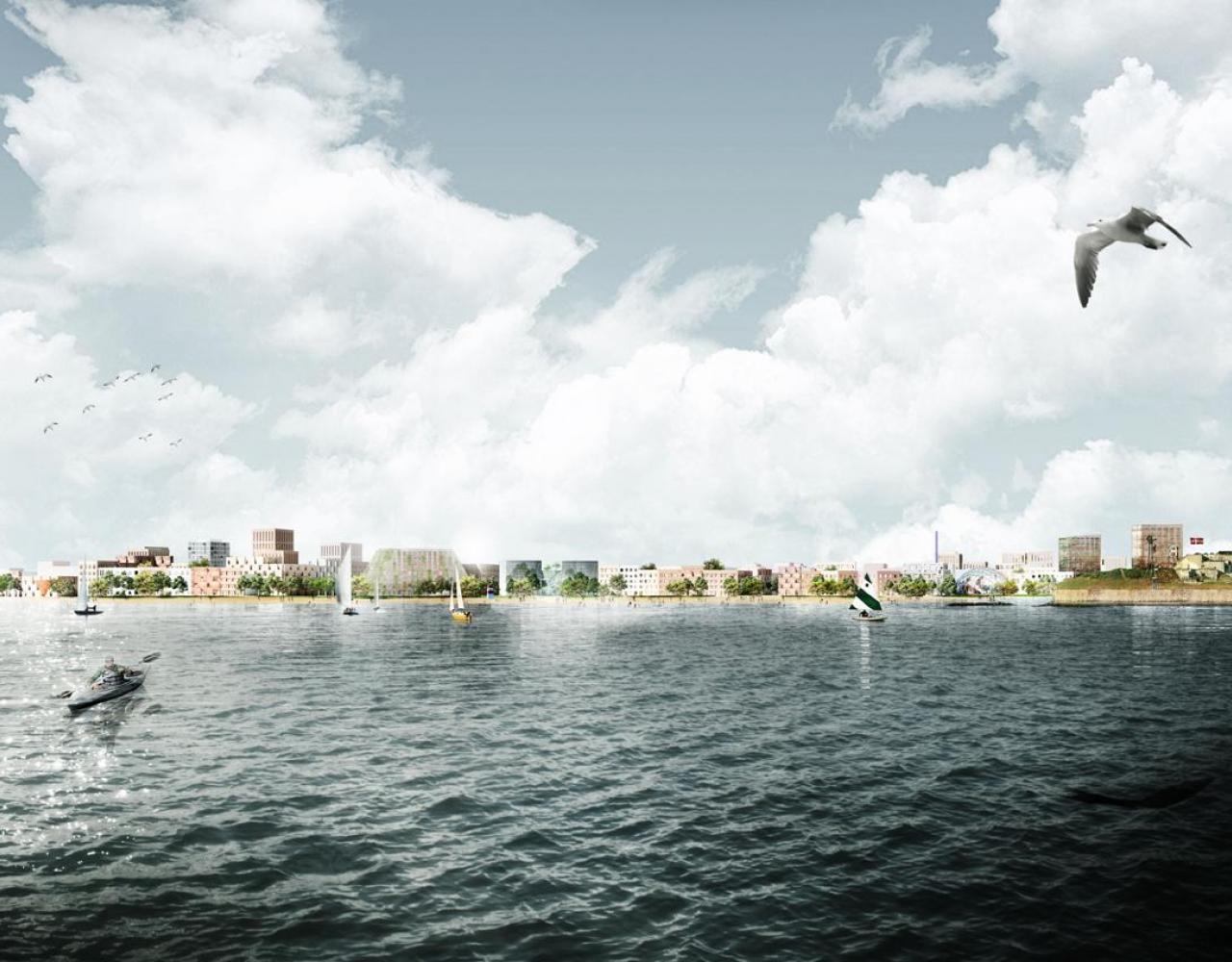 Lynetteholmen kystlinje visualisering