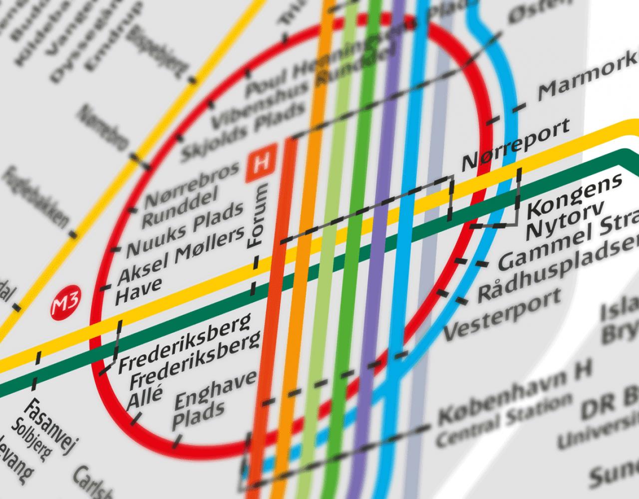 togkort københavn metro