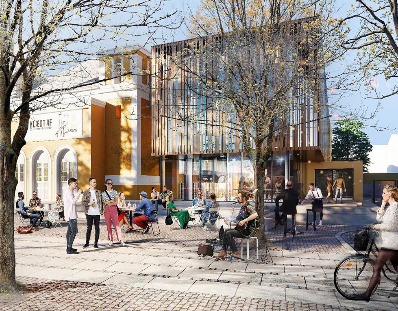 Ny facade på Aveny-T's Væksthuset