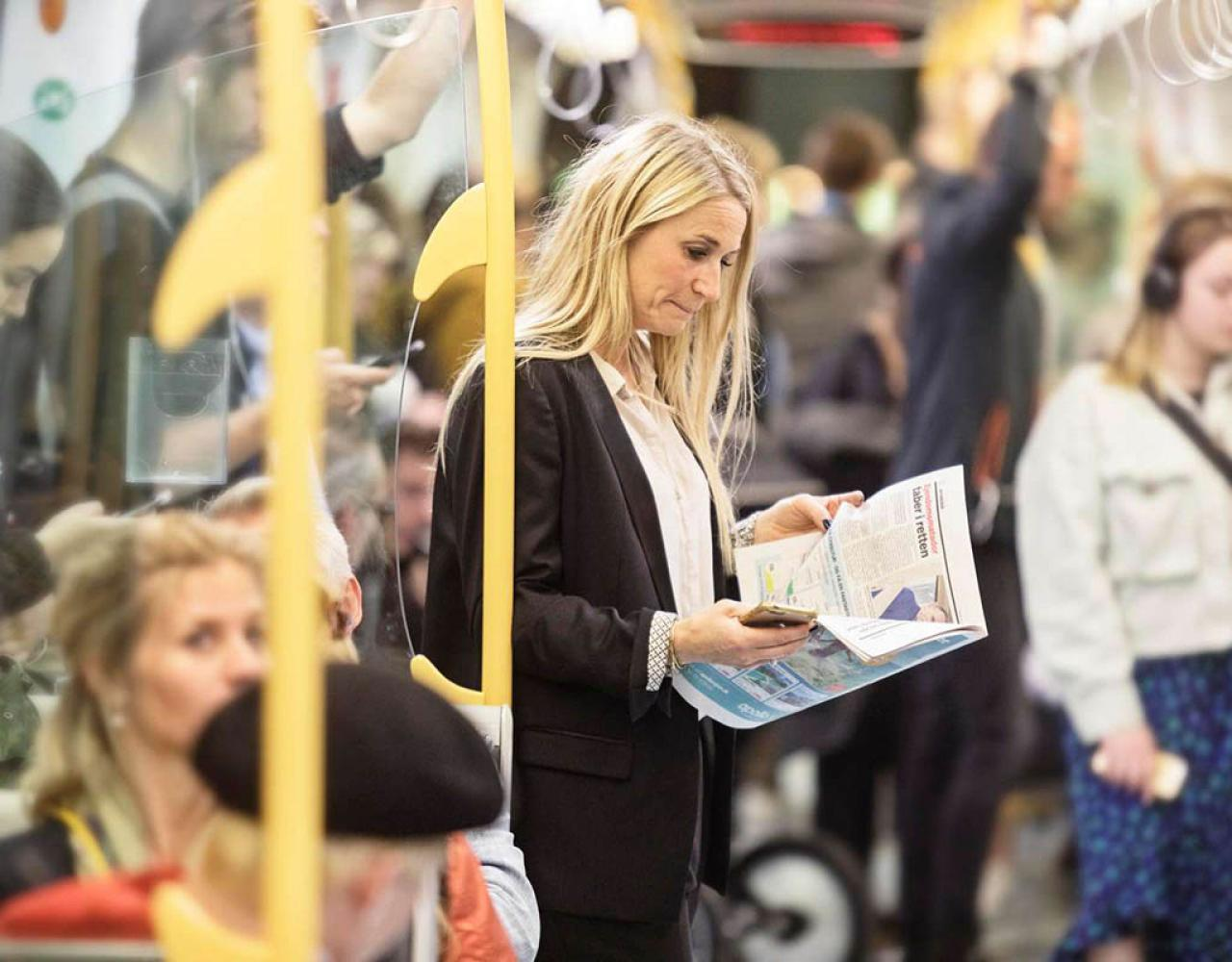 passagerer i metroen