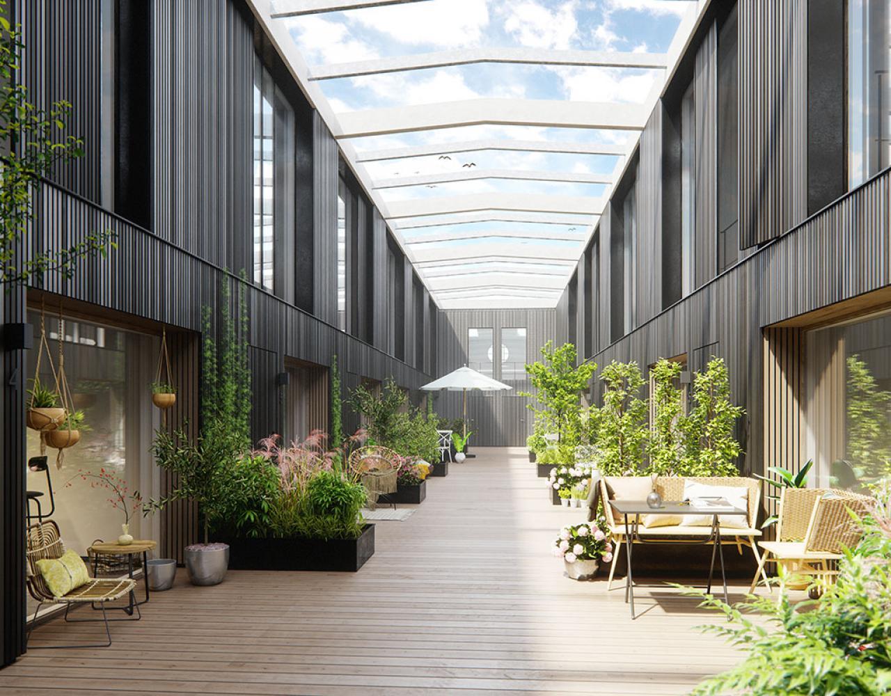 atriumgård mineralvandsfabrikken lejligheder