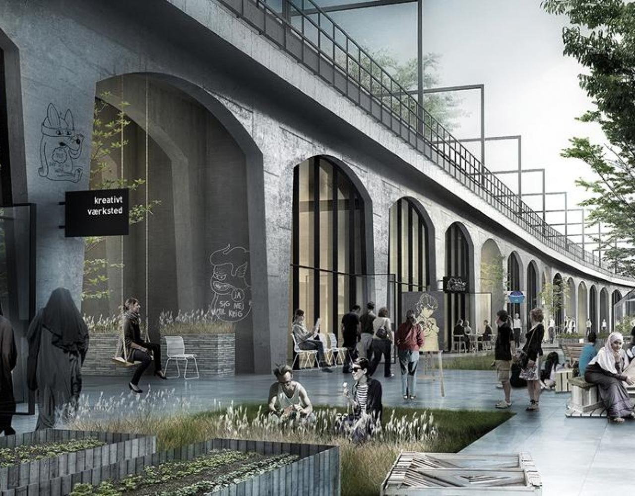 Nørrebro Station vision under højbanen