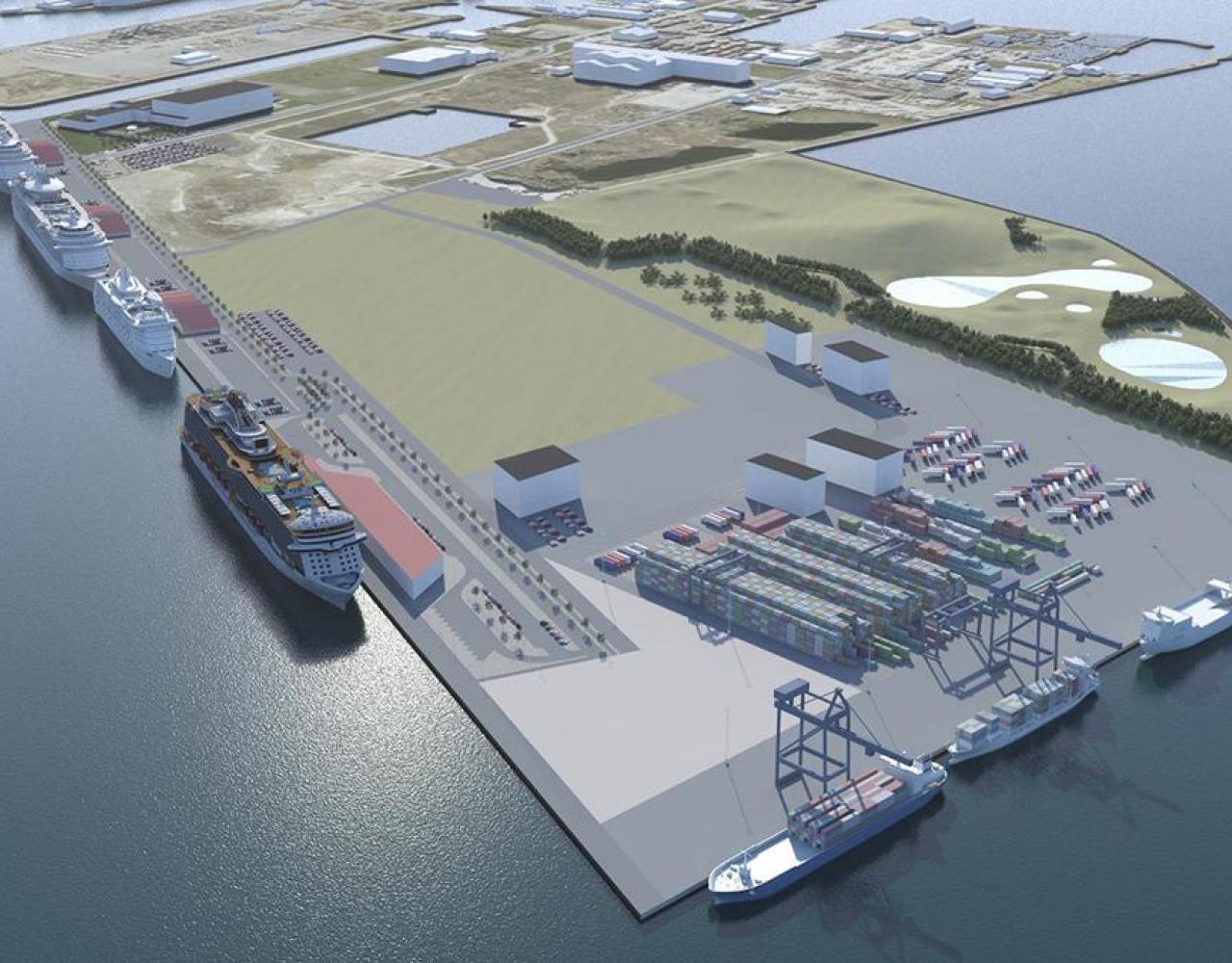 Nordhavn containerterminal krydstogtskaj fremtid