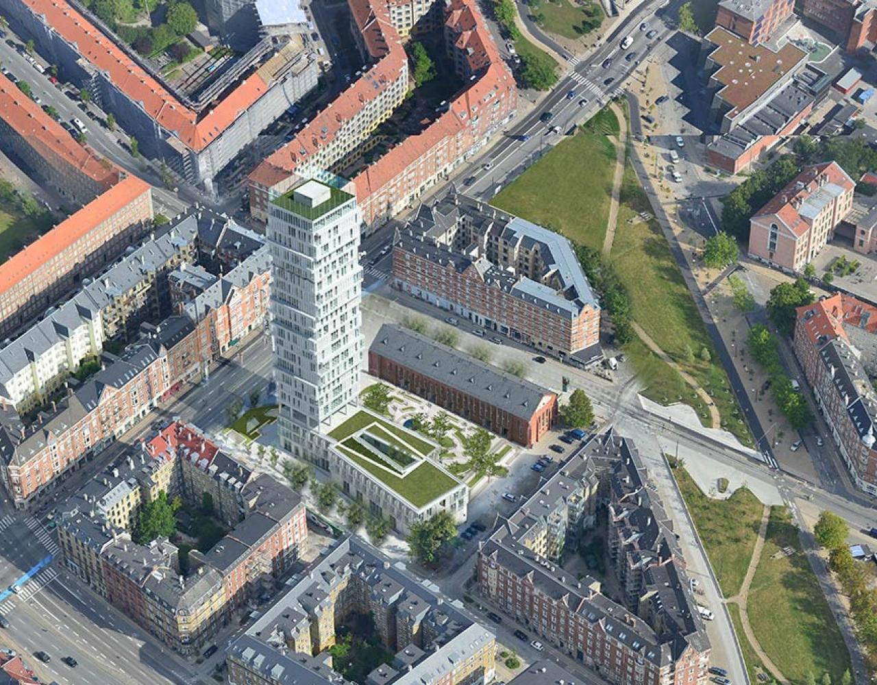 højhus nuuks plads luftperspektiv