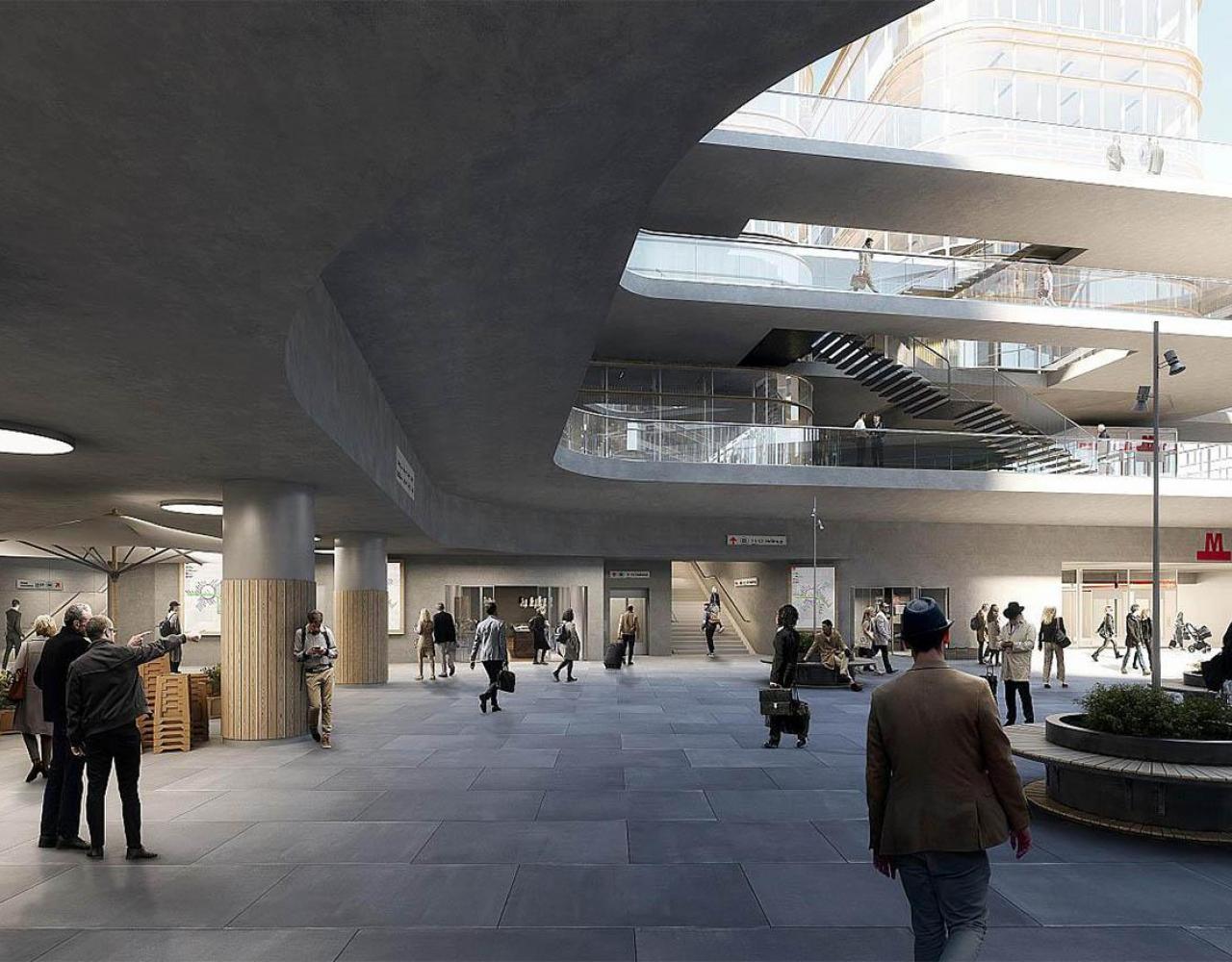 Ny Ellebjerg, Arkitema, infrastrukturplan, S-tog