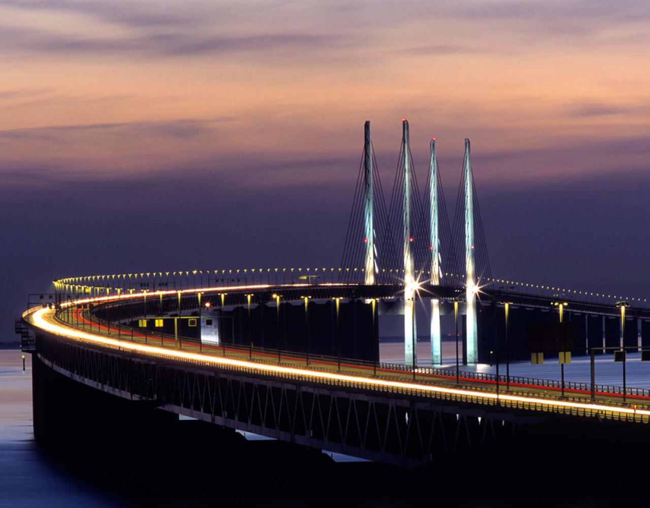 øresundsbroen aften