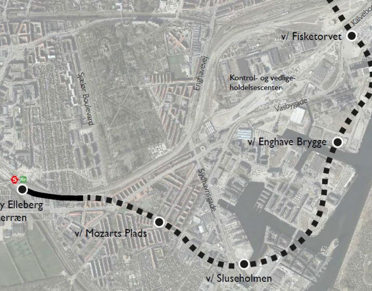 stationer sydhavn metro