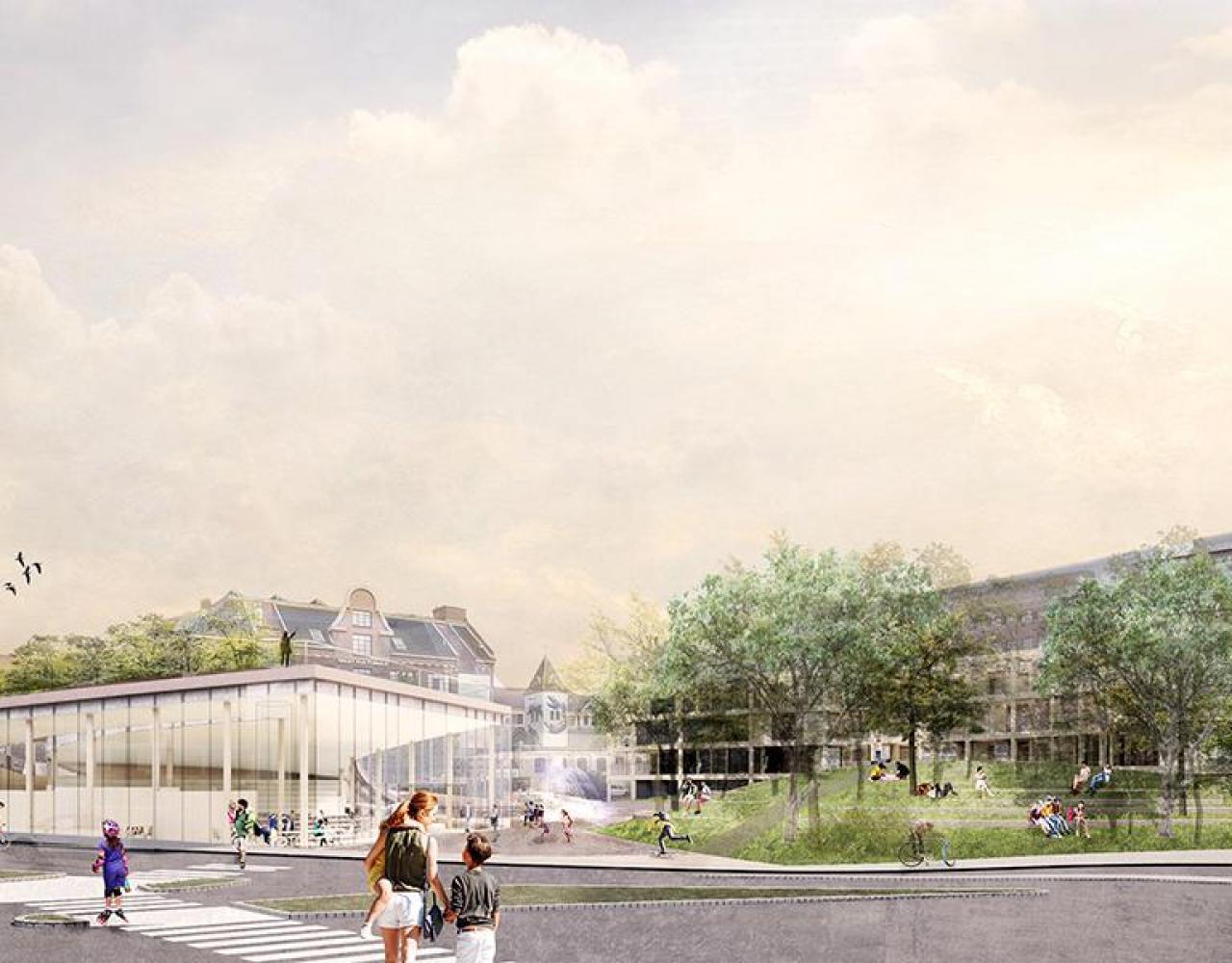 Toftegård Plads, fremtid, bibliotek