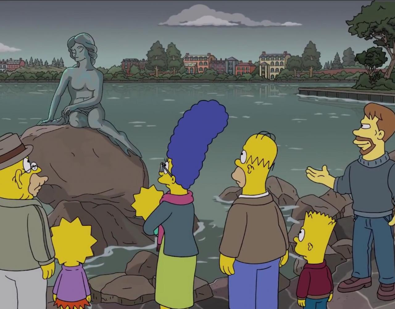 the simpsons den lille havfrue