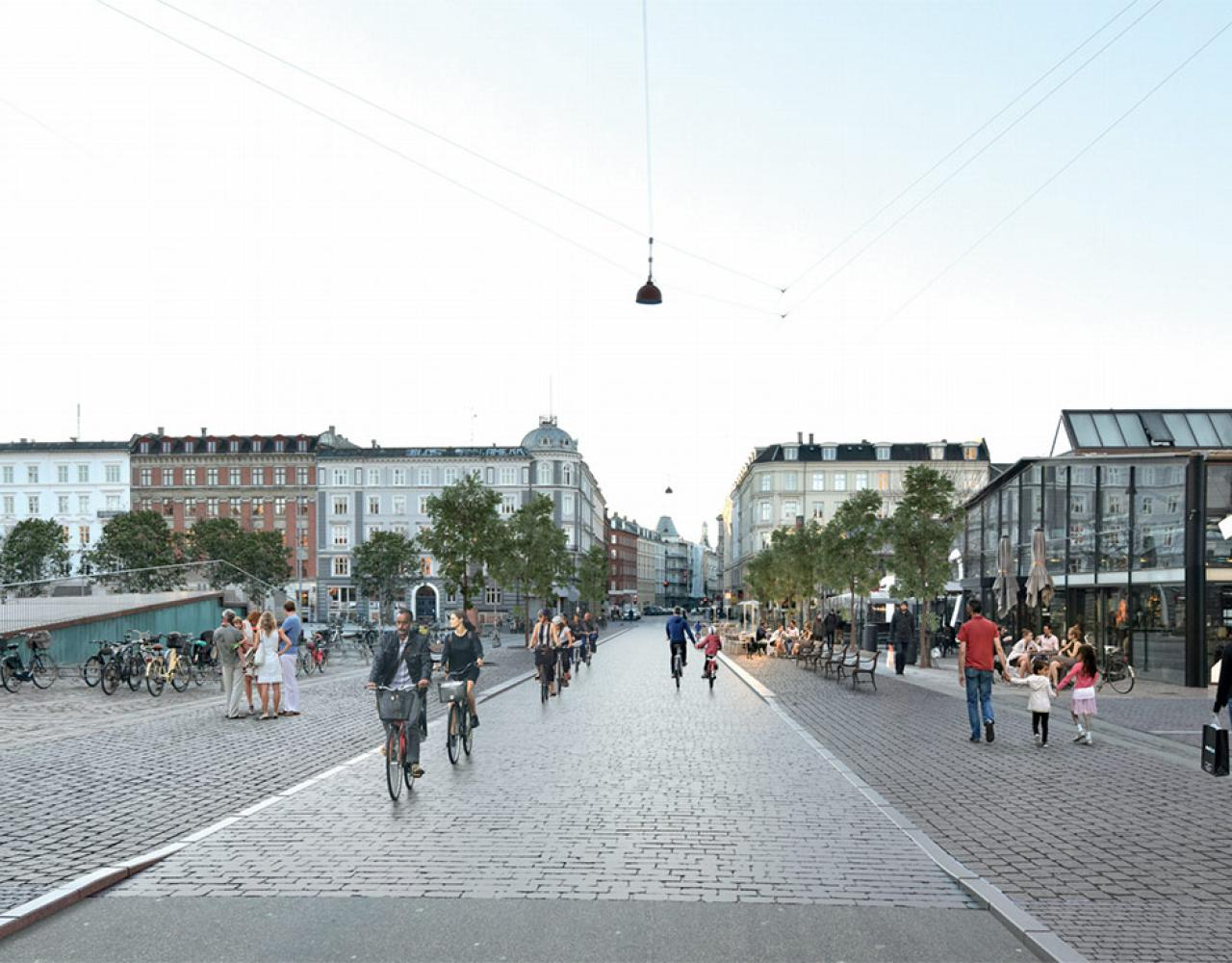 Vendersgade ombygget til cykelvenlig glade ved Israels Plads og Torvehallerne