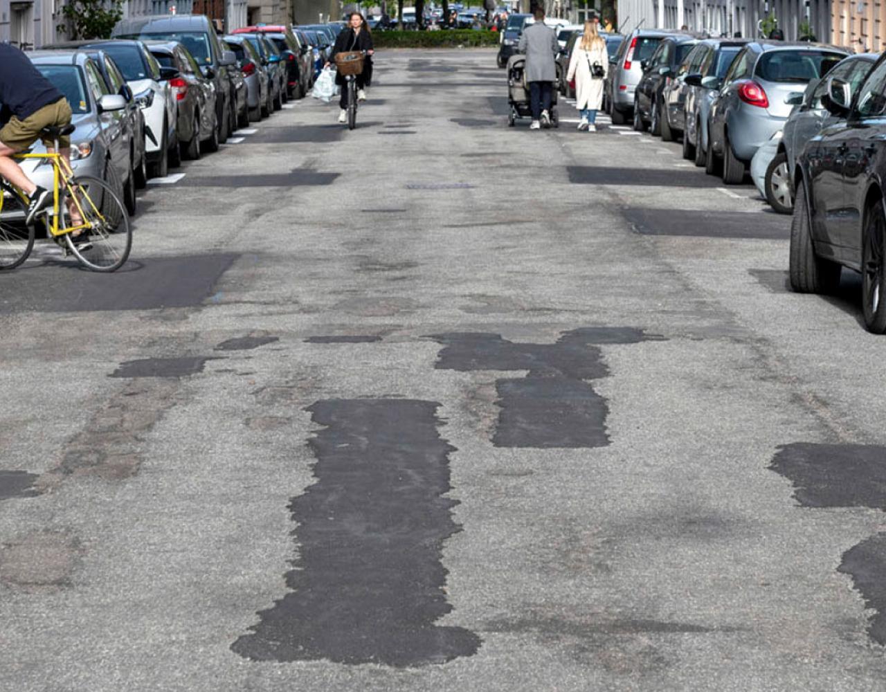 Viborggade asfalt østerbro