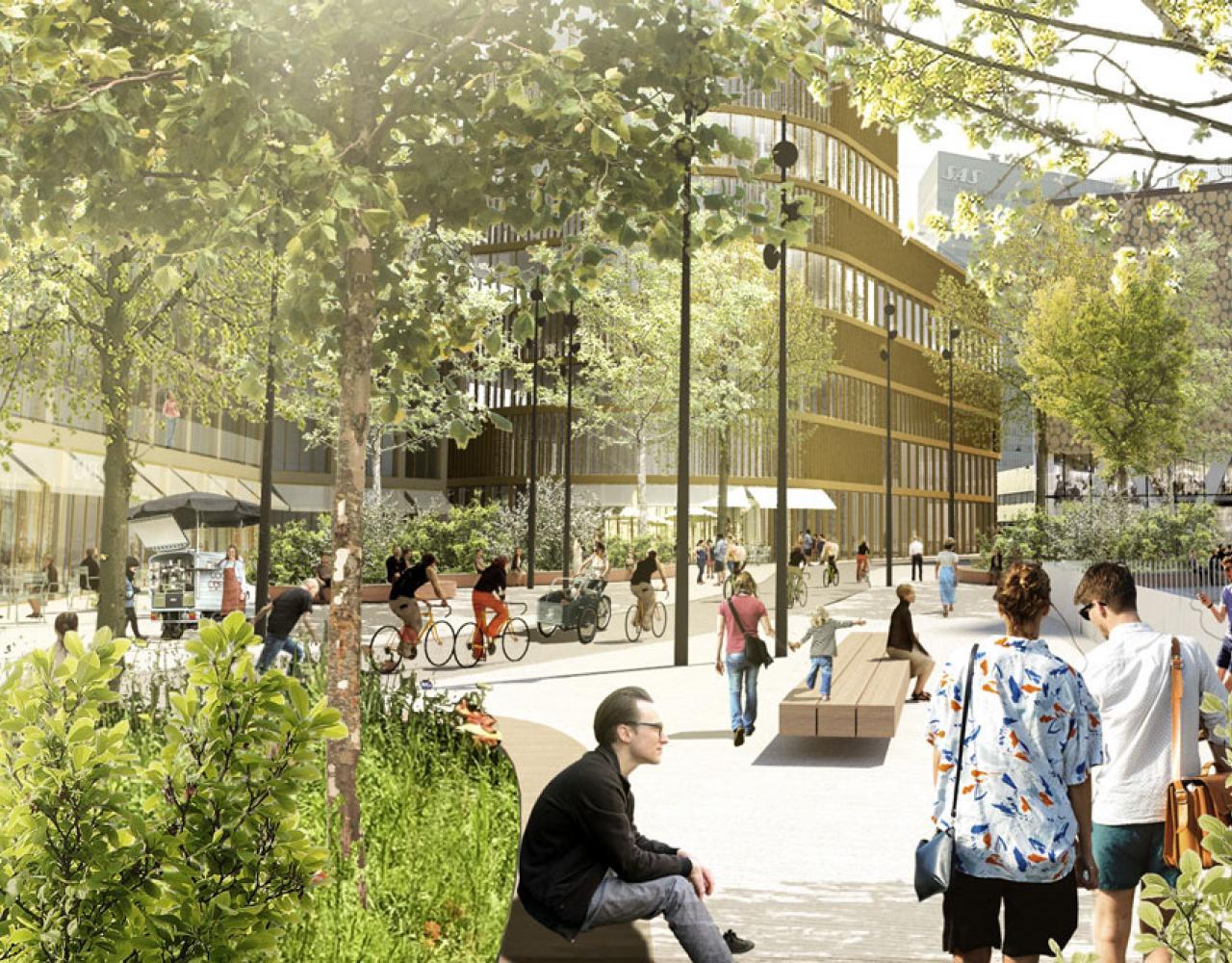 Vesterport banegrav overdækket hammerichsgade grønt strøg