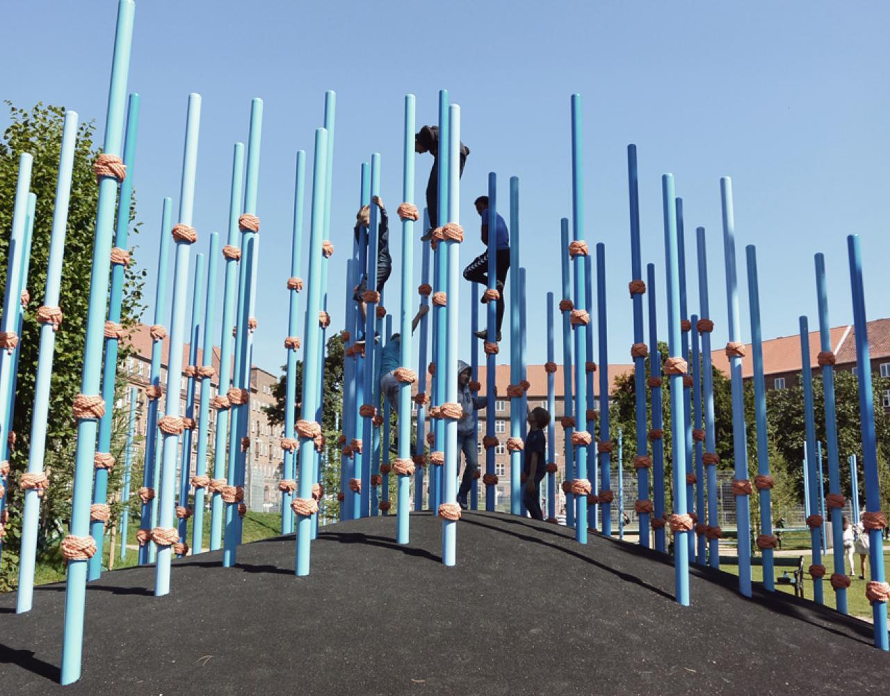 guldbergs plads pæleskov