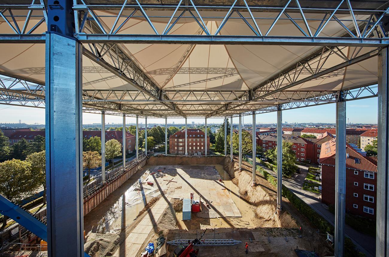 byggepladsoverdækning bispebjerg hospital