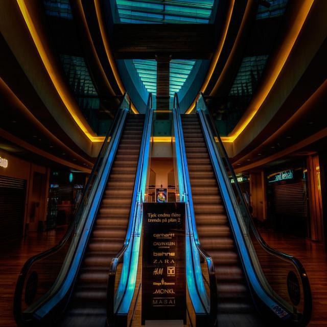 Interior inside Fisketorvet Copenhagen.