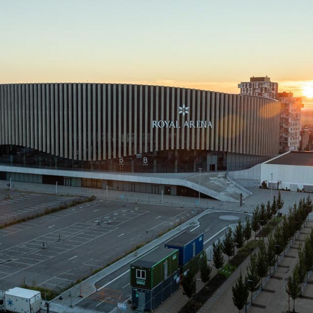 Sunset on Royal Arena