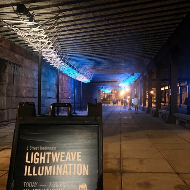 """""""Lightweave"""" illumination in NoMa"""