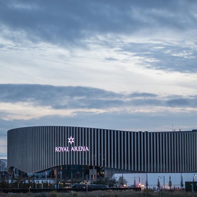 Arena at dusk
