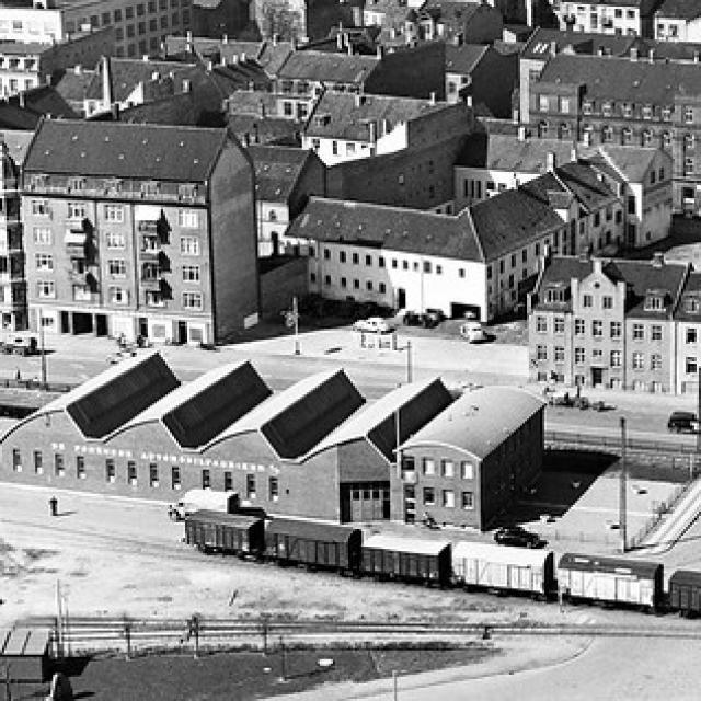 Nørreport og Kystvejen Aaarhus 1948