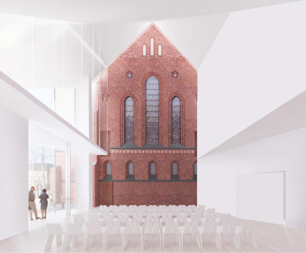 sct thomas kirke udbygning interiør