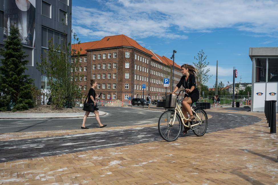 cykelsti forplads carlsberg station